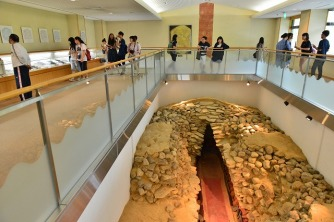 天理市立黒塚古墳展示館を見学