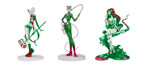 DC Comics Artists Alley Chris Sho Murase Holiday Variant Statues by DC Collectibles - Harley Quinn, Catwoman & Poison Ivy