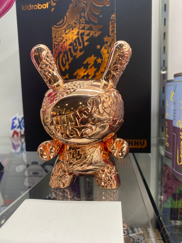 "New Money 5"" Metal Dunny Art Figure by Tristan Eaton - Rose Gold"